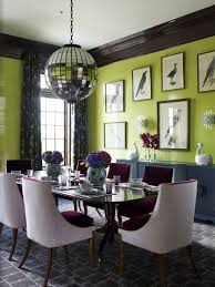it is probably the most awesome design bo shocking in a good way lime green walls and deep brown trim disco ball style light fixture very brave