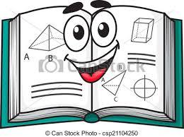 happy smiling cartoon textbook csp21104250