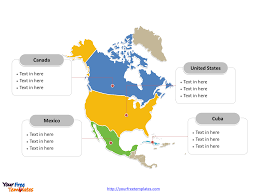 free editable maps free north america editable map free powerpoint templates