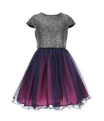 Blush By Us Angels Big Girls 7 16 Foil Mesh Fit Flare Dress