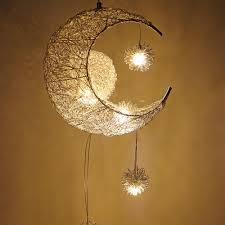 moon star pendant lights kid s room lighting modern child bedroom lamps aluminum for living room home decoration hanging ceiling lamp unique pendant