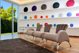 Unique Wall Paint Fascinating Break Room Design With Unique Round Shape Colorful