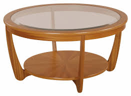 nathan shades glass top round coffee table