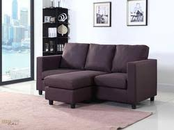 newport brown linen small condo apartment sized sectional sofa with chaise by urban cali cool couches for sale47 for