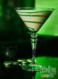 the loopy leprechaun 1 part three olives loopy vodka 2 parts irish cream