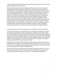 benefit to having private companies own natural resources essay similar essays