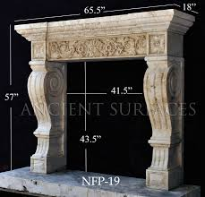 a directoire style hand carved fireplace mantel