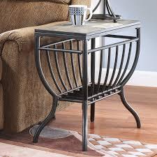 signature design by ashley antigo chair side end table black com