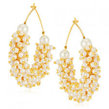 sukkhi stunning gold plated earrings