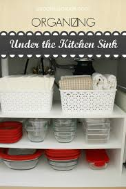 Under Kitchen Sink Organizing 17 Best Ideas About Under Sink On Pinterest Under Sink Storage