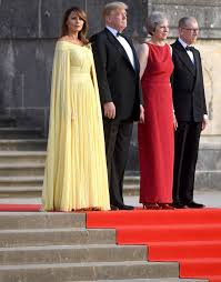 Melania Trump Yellow Dress Designer Melania Trump Paid Homage To Queen Elizabeth Ii With Her