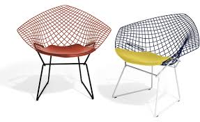 bertoia diamond chair two tone with seat cushion  hivemoderncom