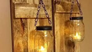 homemade lighting ideas. Homemade Wall Lamp Ideas Outdoor Lighting With Hanging Mason Jar Candle Light P