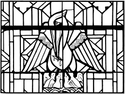 Small Picture Free coloring page coloring adult stained glass pelican church