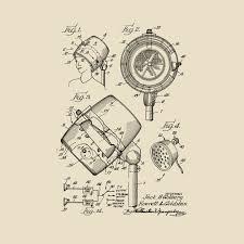 Hallensteins Size Chart Hair Dryer Sound System Vintage Patent Hand Drawing