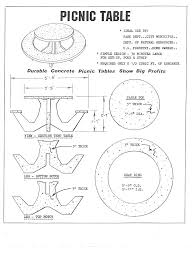 round picnic table plans round concrete picnic table forms picnic table plans pdf