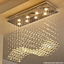 moooni modern crystal chandelier lighting wave dining room ceiling light fixture l31 5 x w11