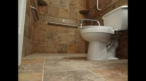 Handicap Tile Shower Designs Part 1 How To Build And Tile Curbless Handycap Walk In Shower