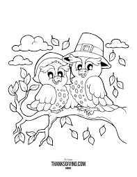 Small Picture Thanksgiving Coloring Book Pages for Kids