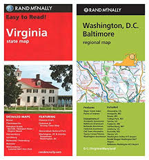Enlarging The National State Chart Amazon Com Rand Mcnally State Maps Virginia And