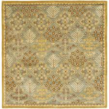 Light Blue And Gold Rug Safavieh Antiquities Collection At613a Handmade Traditional Oriental Light Blue And Gold Wool Square Area Rug 8 Square