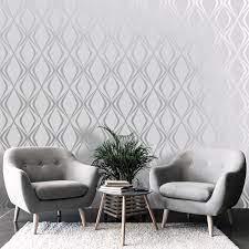 Amelie Geo Grey Wallpaper