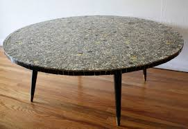 Round Formica Table Square Picked Vintage