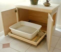 litter box bench cat furniture plans diy kitty ikea