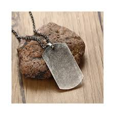us military dog tag pendant necklace for men stainless steel united states oxidation gray metal male jewelry 20 inch length 50cm