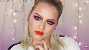 color crazy 1980 s makeup tutorial