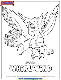 Small Picture Skylanders Giants Air Polar Whirlwind Coloring Page H M