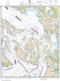 Burrard Inlet Depth Chart 18421 Strait Of Juan De Fuca To Strait Of Georgia