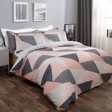 dreamscene textured geometric duvet set