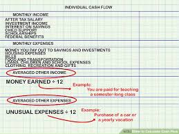How To Calculate Cash Flow 15 Steps With Pictures Wikihow
