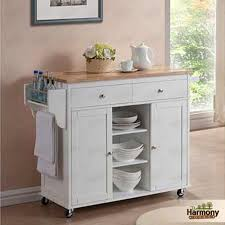 Rolling Kitchen Island Kitchen Island Cart White Portable Wood Microwave Rolling Towel