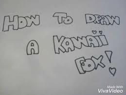 Come Disegnare Una Volpe Kawaii Youtube