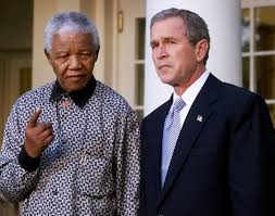 best george w bush photos images georges w george w bush and nelson mandela pictures photos and images
