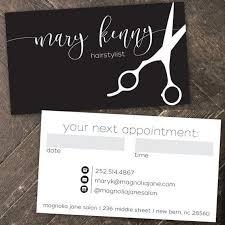 Beautician Business Cards Customizable Beauty Salon Loyalty Punch
