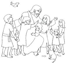 Pictures Of Jesus With Children To Color Jesus With Children