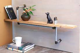 diy steel pipe shelf