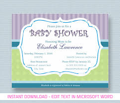 Baby Shower Templates For Word Baby Shower Invitation For Microsoft Word YouTube 1