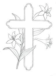 Coloring Pages Cross Coloring Pages For Easter Crosses Three From