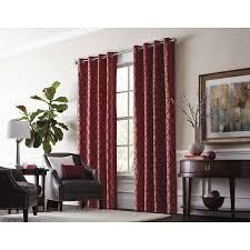 allen roth drenham 84 in barn red polyester grommet room darkening thermal lined single