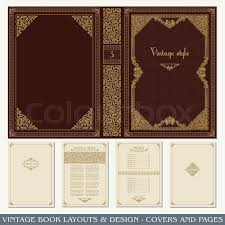 stock vector of vine book layouts and design covers and pages clical rich
