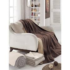 Patterned Blankets Amazing Ottomanson 48 In W X 48 In L Dark Brown And Tan Reversible Soft