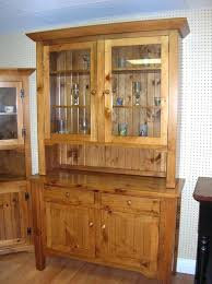 rustic pine sideboard and hutch glass door wooden kitchen furniture a
