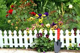 flower garden fence flower garden fence white fence viola flowers flower garden fence ideas flower