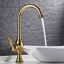 bathroom countertop basins wholesale: wholesale and retail gold polished single lever countertop basin sink faucet  handle hole mixer tap bathroom hs