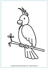 Small Picture Printable Bird Colouring Pages for Kids