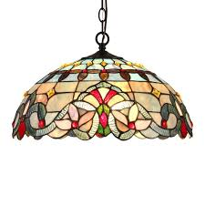 grenville tiffany style 2 light victorian ceiling pendant fixture 18 shade